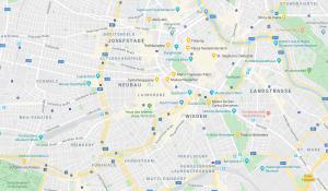 mapa mercados Navidad Viena