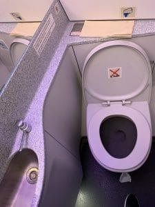 baño en los aviones de WizzAir