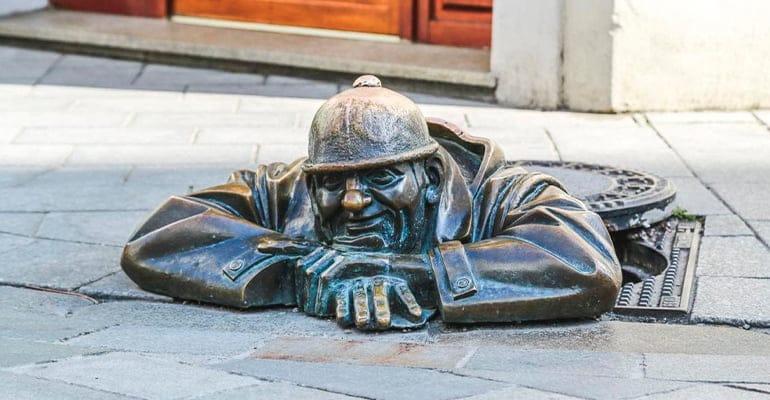 figuras de Bratislava Man at Work