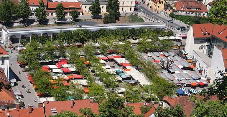 Mercado central de Liubliana