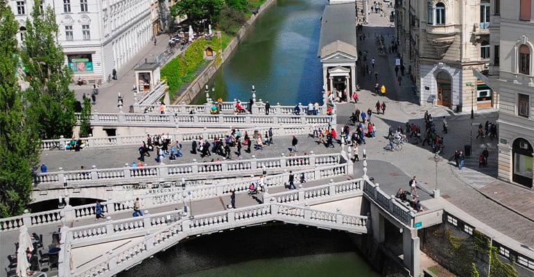 puente triple en Liubliana