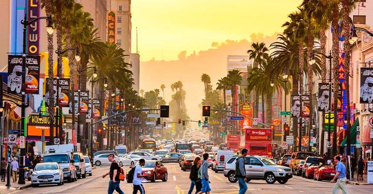 hollywood boulevard, lugar que ver en los angeles