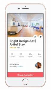 aplicación Airbnb