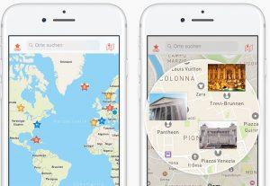aplicación CityMaps2Go, una de las aplicaciones para viajar