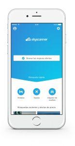aplicación Skyscanner