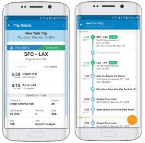 aplicación TripIt, una de las aplicaciones para viajar