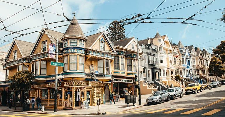 barrio Haigh Ashbury en San Francisco