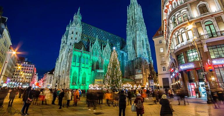 mercado Navidad Viena Stephansplatz