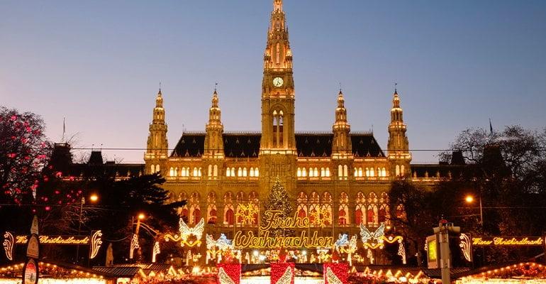 mercado Navidad Viena Rathausplatz