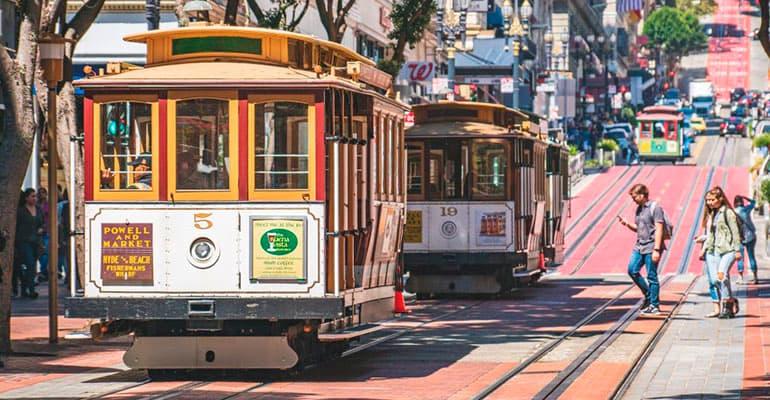 subir al tranvía San Francisco