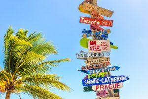 carteles de destinos