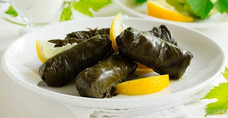 dolmadakia, comida tradicional de grecia