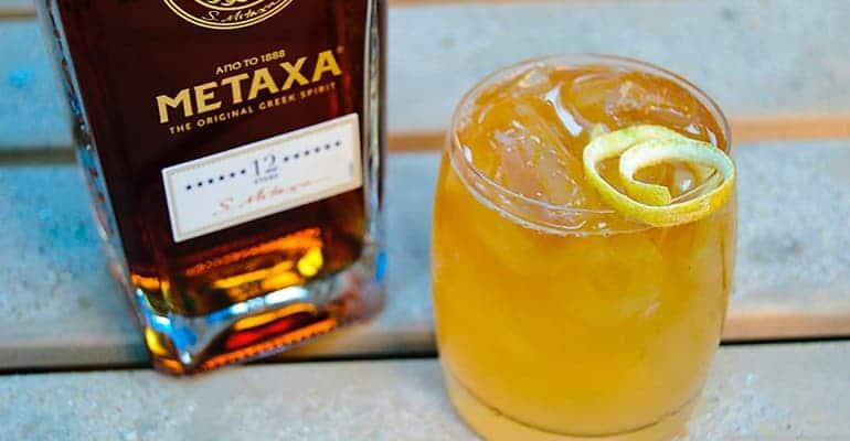metaxa, bebida tipica griega