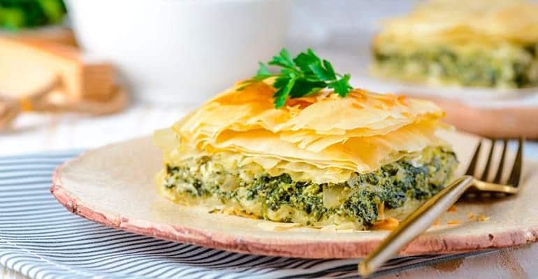 Spanakópita, plato que comer en grecia