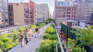 High Line Elevated Park New York