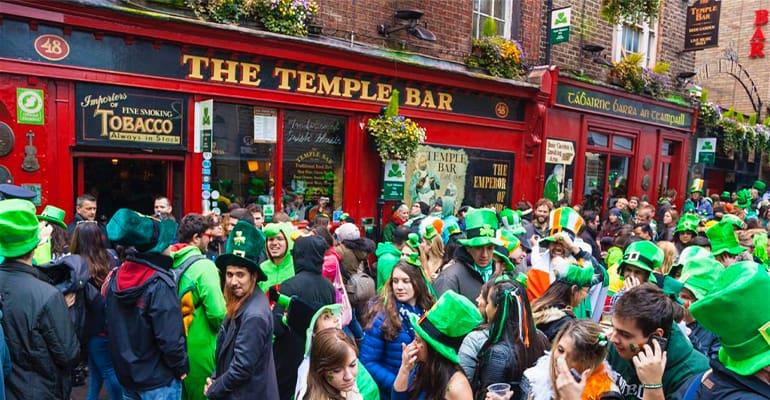 san patricks en temple bar Dublin