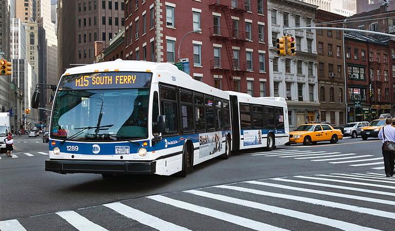 moverse por Nueva York en autobús