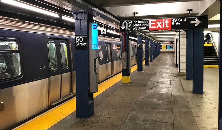 moverse por Nueva York en metro