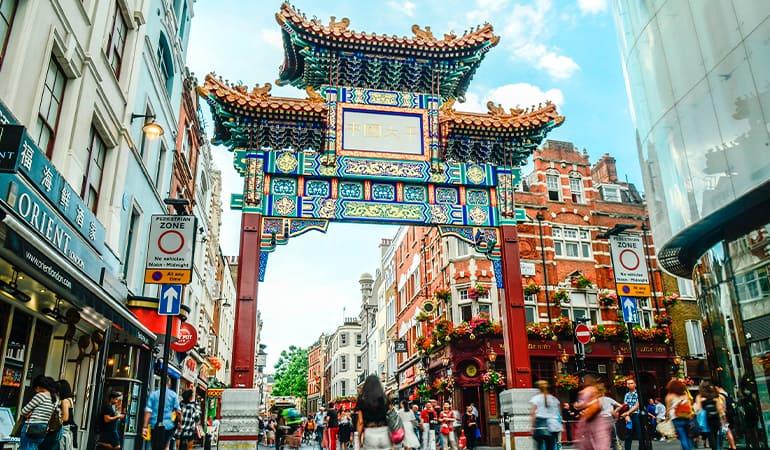 barrio chinatown de Londres