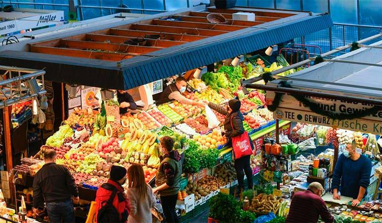 mercado Kleinmarkthalle de Frankfurt
