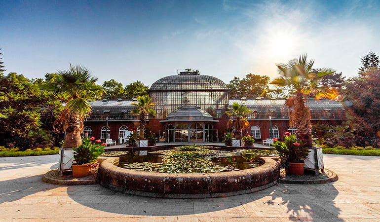 jardín Palmengarten de Frankfurt