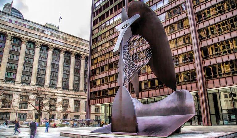 escultura de Picasso en Chicago