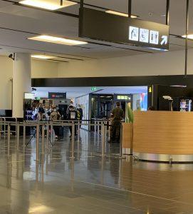 control de temperatura coronavirus aeropuerto de Viena