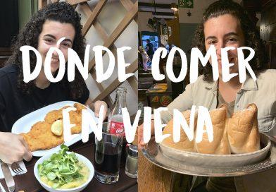 chica con platos de donde comer en Viena