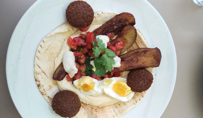 falafel de NENI, restaurante donde comer en Viena
