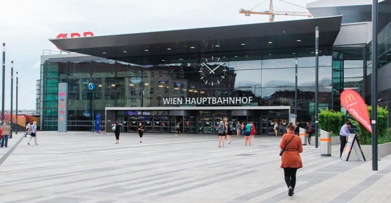 estación central Wien Hauptbahnhof