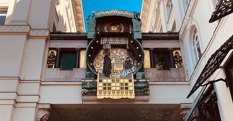 reloj Ankeruhr en Viena