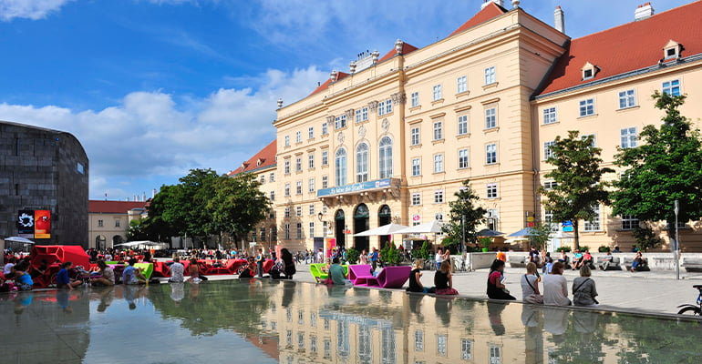 Museumsquartier en Viena