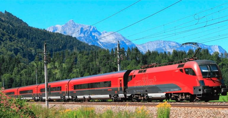 tren de Viena en Austria