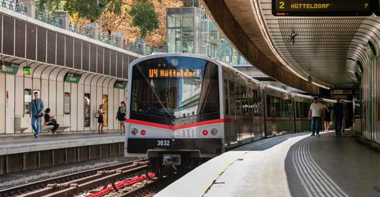 moverse por viena en metro