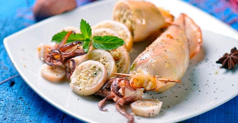 sepias rellenas que comer en Italia