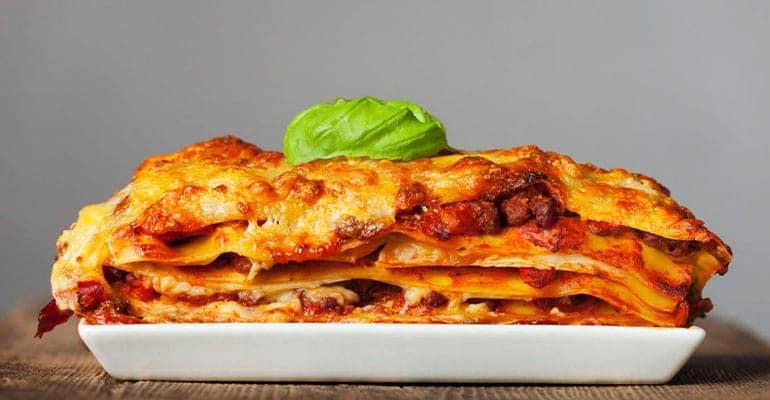 Lasaña que comer en Italia