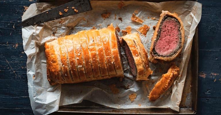 Beef Wellington, carne que comer en Reino Unido