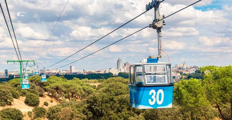 teleférico, una de las cosas que hacer en Madrid