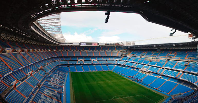 tour por el estadio Santiago Bernabeu en Madrid
