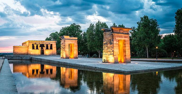 El Templo de Debod, una de las cosas que hacer hoy en Madrid
