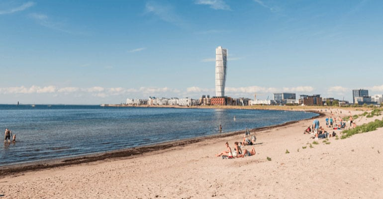 playa de Ribersborg en Malmö