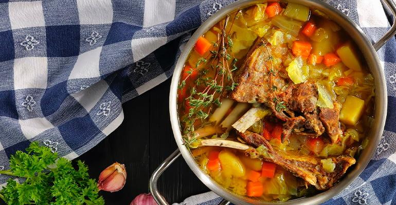 Kjötsúpa, una de las sopas que comer en Islandia
