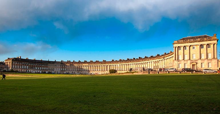 The Royal Crescent, lugar que ver en Bath