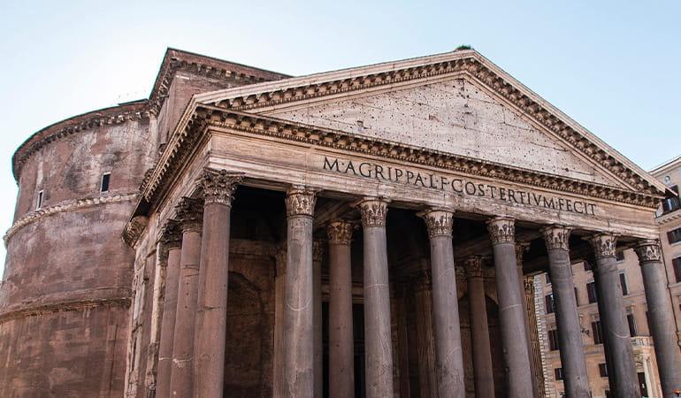 Panteón de Agripa, uno de los lugares que ver en roma
