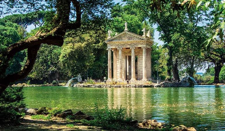 villa borghese, parque que ver en roma