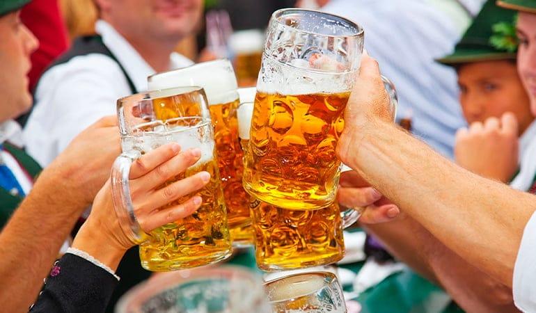 cerveza de la oktoberfest de múnich
