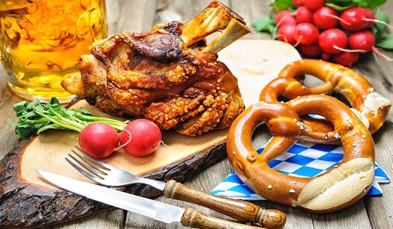 comida en el oktoberfest