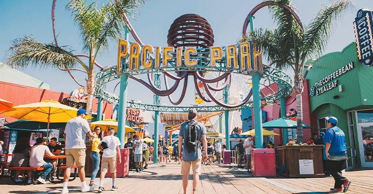 pacific park, uno de los parques de atracciones en Los Ángeles