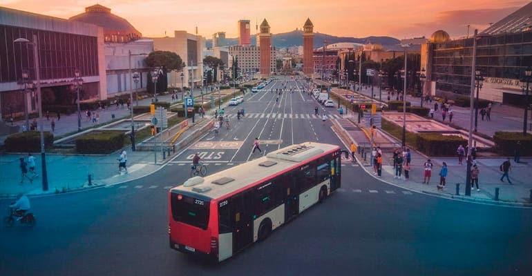 moverse por Barcelona en autobus