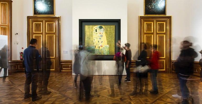 Museos en el Palacio Belvedere, ver El Beso de Klimt
